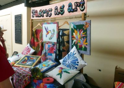 Boquete Tuesday Market: Fabric as Art table