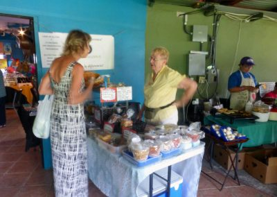 Boquete Tuesday Market: gluten-free bakery table