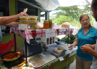 Boquete Tuesday Market: Anna with her Hungarian treats
