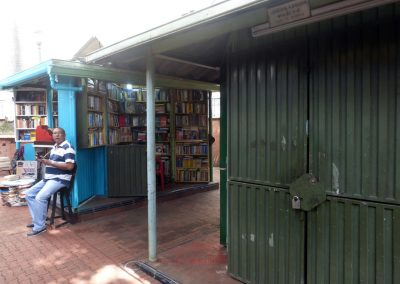 Cali Colombia: These unique book stalls fold up tight.