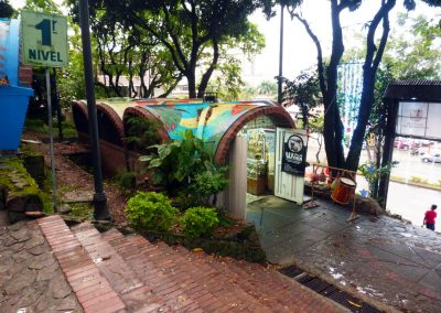 Cali Colombia: I love the unusual shape of the shops.