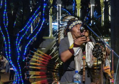 Cali Colombia: I loved this guy - fabulous native flute music.