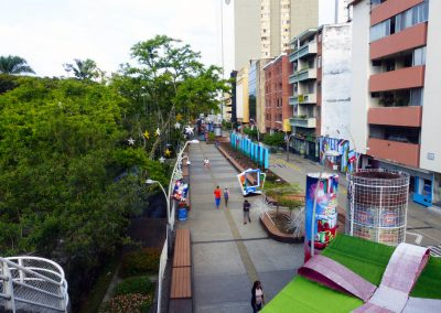 Cali Colombia: View of the river walkway.
