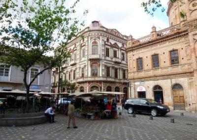 Beautiful corner near flower market; Cuenca Ecuador