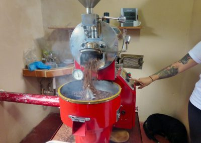 Finca dos Jefes: roasting is finished