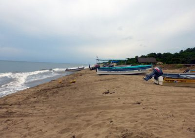 Panama whale watching: looking south on Arenal Beach
