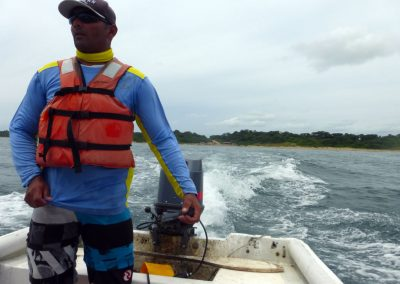 "Panama whale watching: our boat ""captain"""