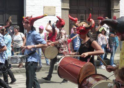 Fiesta de Reyes: curly horn devil masks