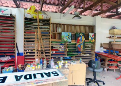 sarchi oxcarts: factory workshop parrots