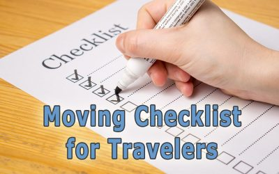 Travelers Checklist for Moving to a New Location